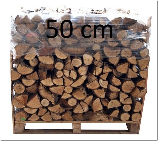 palette bois de chauffage 50cm