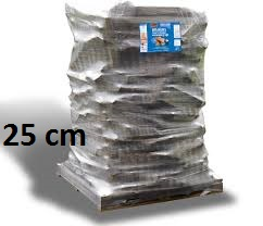 bois de chauffage de 25 cm