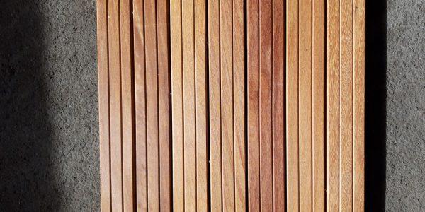 Dalle de terrasse bois en cumaru