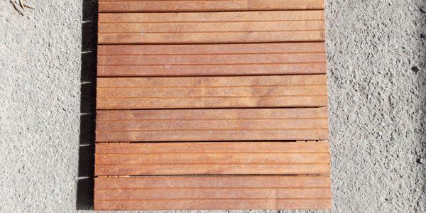 Dalle de terrasse bois en itauba
