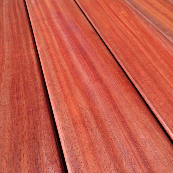 Dalles de terrasse bois en padouk
